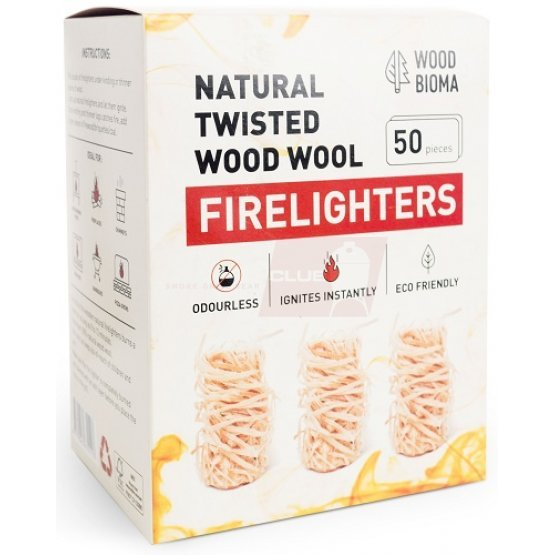 Natural twisted wood wool Firelighters