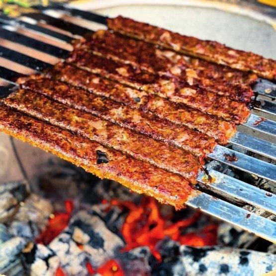 Flat barbecue skewer, 65 cm