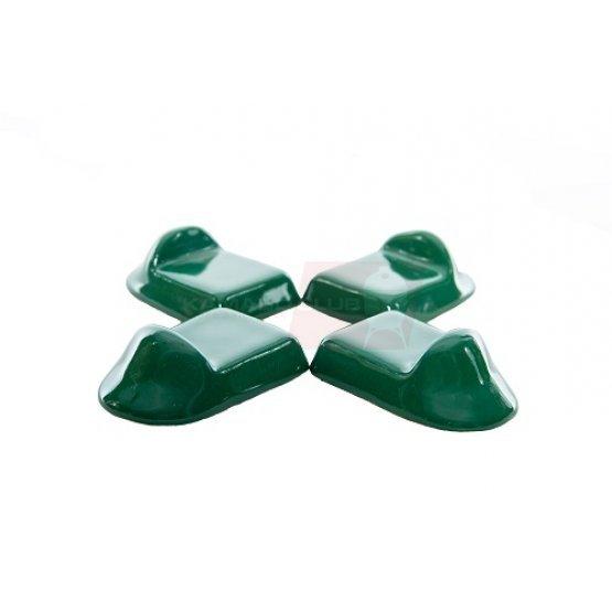 Ceramic KamadoClub grill feet, green 3pcs.