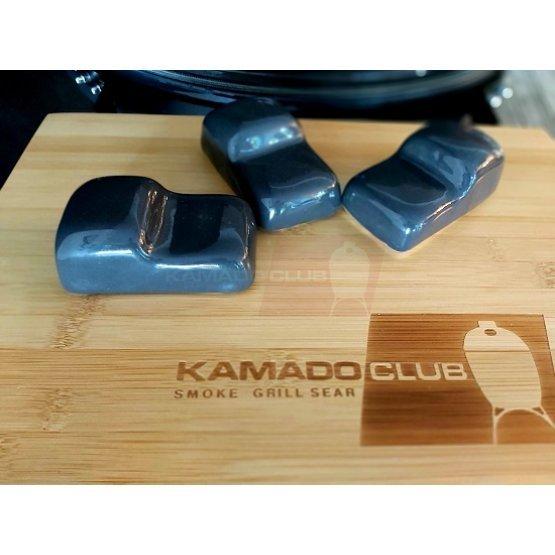 Ceramic KamadoClub grill feet, grey