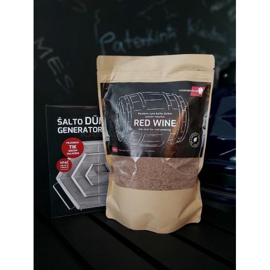 Red wine barrel dust, 450g