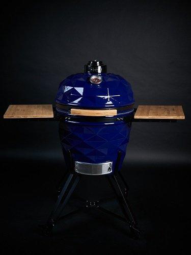 Kamado Club PRO mėlynos spalvos kepsninė